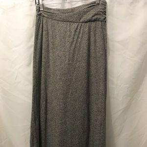 VELVET Gray Maxi Skirt